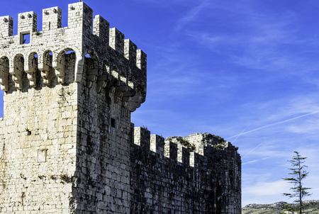 Fortress Kamerlengo in historic city of Trogir, Dalmatia, Croatia Reklamní fotografie