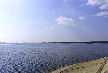 View of Jeziorsko Lake in Lyszkowice, Poland Stockfoto
