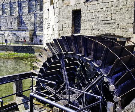 Warwick Castle Mill in Warwick,  Warwickshire, United Kingdom Stock Photo