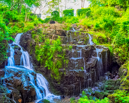 La Petite Cascade - The Little Waterfall of the Cance and Cançon rivers  - Le Neufbourg, Normandy, France