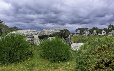 Alignements de Carnac - Carnac stones in Carnac, France Imagens