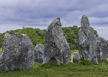 Alignements de Carnac - Carnac stones in Carnac, France Reklamní fotografie