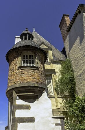 Vintage architecture of Old Town in Vitre (Vitré), Brittany, France