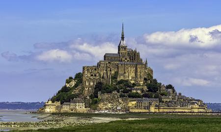 Le Mont Saint Michel - Normandië, Frankrijk Redactioneel