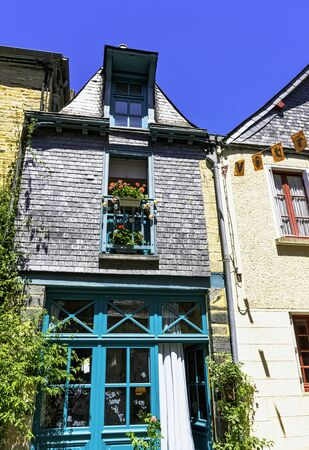 Vintage architecture of Old Town in Vitre (Vitré), Brittany, France Imagens