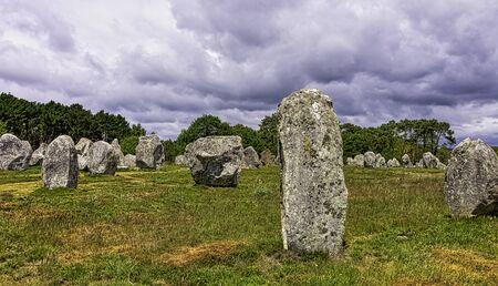 Alignements de Carnac - Carnac stones in Carnac, France 写真素材