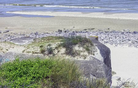 Dunkirk Beaches Bunkers - remains of a WW2 Nazi coastal gun battery, known as M.K.B Malo Terminus - Dunkirk, France