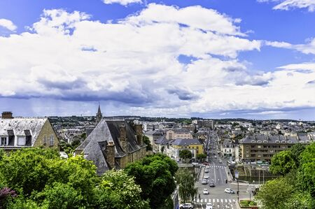 Panorama of Le Mans, Maine, France Stock Photo
