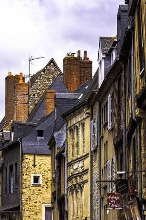 Vintage architecture of Old Town in Le Mans, Maine, France 版權商用圖片