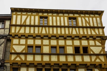 Vintage architecture of Old Town in Vannes, Brittany, France