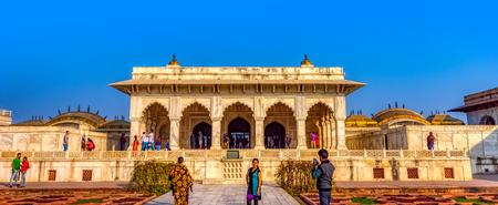 Khas-Mahal and Anguri Bagh, Agbari Mahal, Aramgah or Anguri Bagh (Grape Garden)  in the Agra Red Fort - Agra, Uttar Pradesh, India