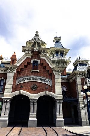 Architecture of Disneyland City - Disneyland Paris, France
