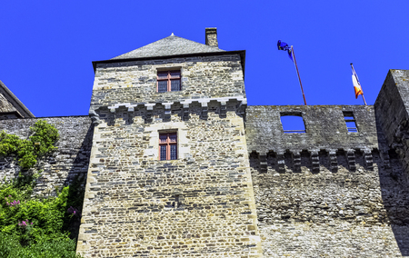 Chateau de Vitre -  medieval castle in the town of Vitré, Brittany, France Redactioneel
