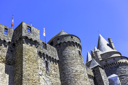 Chateau de Vitre -  medieval castle in the town of Vitré, Brittany, France Editorial