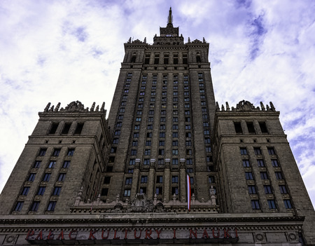 Palace of Culture and Science in Warsaw, Masovia, Poland