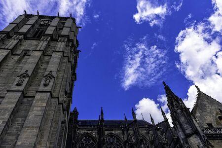 Cathedral of Saint Julian (Cathedrale St-Julien du Mans) in Le Mans, Maine, France Stockfoto