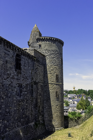 Chateau de Vitre -  medieval castle in the town of Vitré, Brittany, France 版權商用圖片 - 132419893