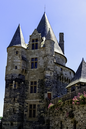 Chateau de Vitre -  medieval castle in the town of Vitre, Brittany, France 版權商用圖片 - 132419897
