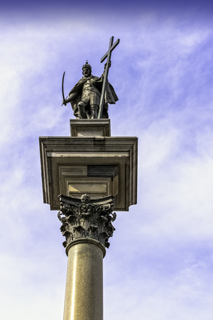 Sigismunds Column in Castle Square, Warsaw, Masovia, Poland