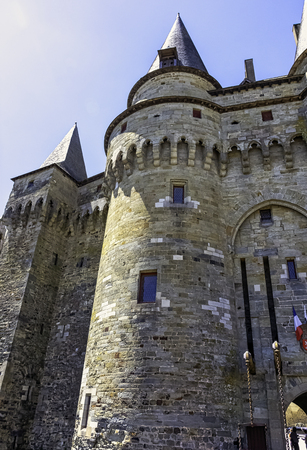 Chateau de Vitre -  medieval castle in the town of Vitré, Brittany, France 版權商用圖片 - 132419961