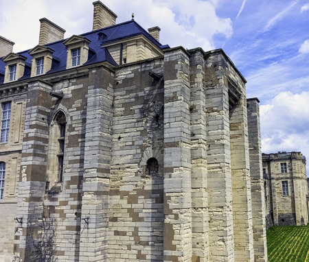 Chateau de Vincennes - massive 14th and 17th century French royal fortress in the town of Vincennes, Val-de-Marne, France