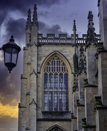 Bath Abbey in Bath, Somerset, United Kingdom Stok Fotoğraf