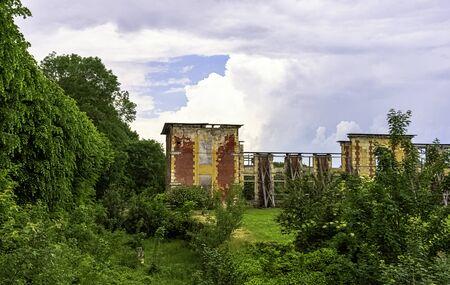 Ruined Coupvray Castle (Chateau de Coupvray) in Coupvray, Seine-et-Marne, Ile-de-France, France