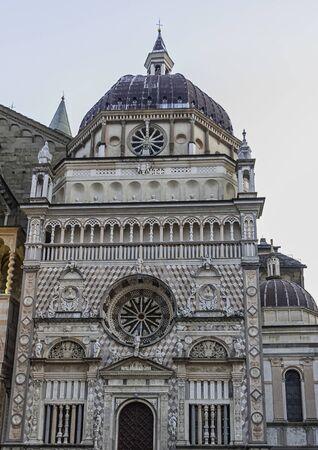 Basilica of Saint Mary Major (Basilica di Santa Maria Maggiore) in Bergamo, Lombardy, Italy 版權商用圖片