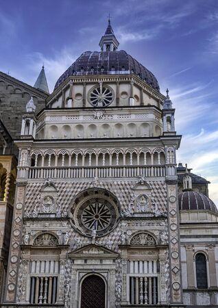 Basilica of Saint Mary Major (Basilica di Santa Maria Maggiore) in Bergamo, Lombardy, Italy Archivio Fotografico