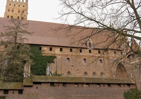 Castle of the Teutonic Order in Malbork - the largest castle in the world by land area in Malbork, Pomerania, Poland Editorial