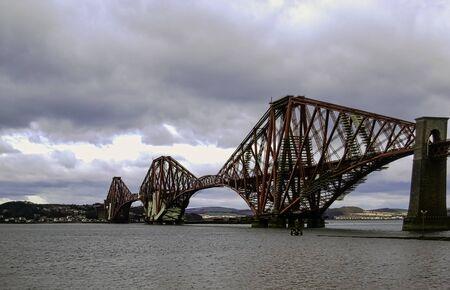 Forth Rail Bridge in Queensferry, Scotland, United Kingdom