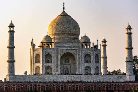 Crown of the Palaces - Taj Mahal in Agra, Uttar Pradesh, India Editorial