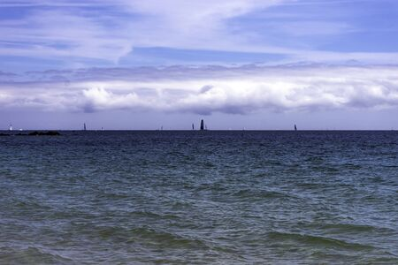 Gulf of Morbihan - Bay of Biscay - view from Carnac, Brittany, France 版權商用圖片