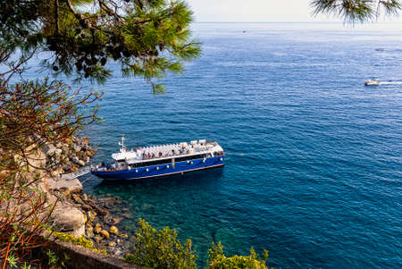Ligurian Sea in Monterosso al Mare, Cinque Terre, Liguria, Italy 免版税图像