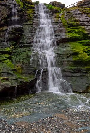 Tintagel Haven beach waterfall - Tintagel, Cornwall, United Kingdom