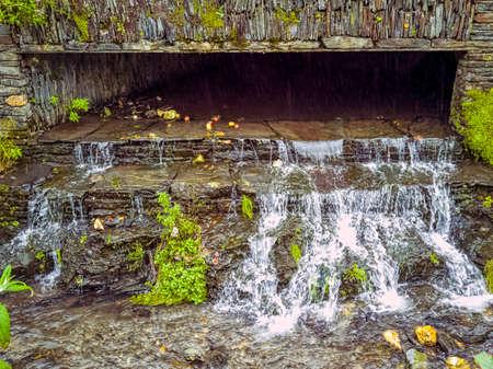 River Valency cascade in Boscastle, Cornwall, United Kingdom