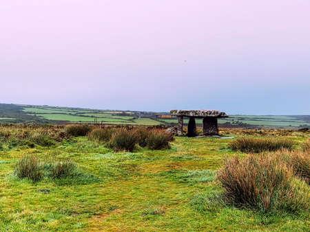 Lanyon Quoit - dolmen in Cornwall, England, United Kingdom 免版税图像