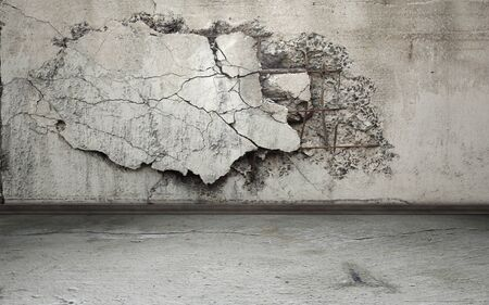 fray: Grunge interior background with cracked wall Stock Photo