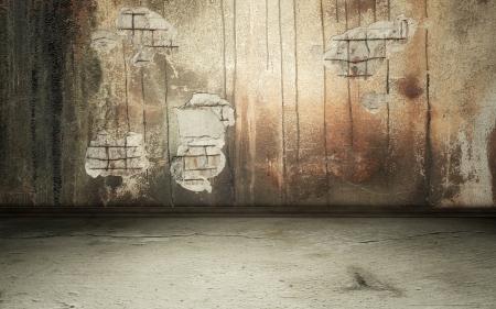 fray: Grunge interior background 3d render Stock Photo