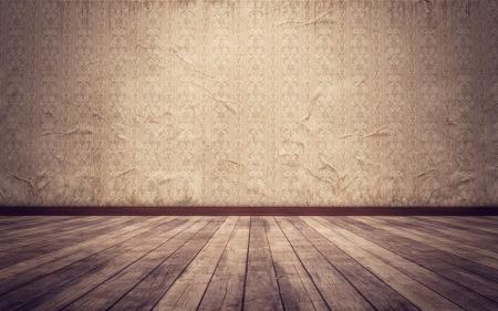 fray: Old Grunge vintage interior background