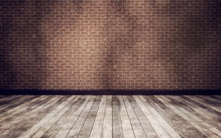 Grunge vintage interior Hintergrund 3d render Standard-Bild - 16899638