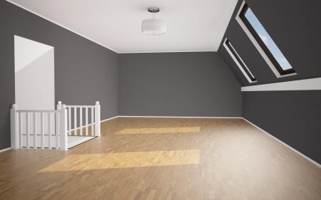 空の明るい部屋の背景