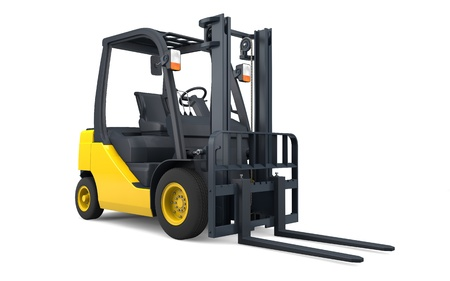 Forklift isolated with clipping path 版權商用圖片