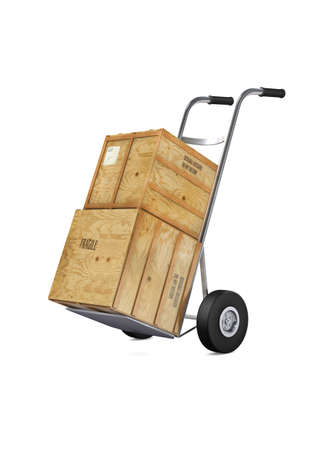 sacktruck: Hand truck with boxes - Moving