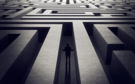 迷路背景で失われた男