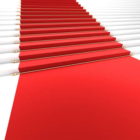 Red Carpet Stairs - Stairway to Fame Stock Photo - 18828670