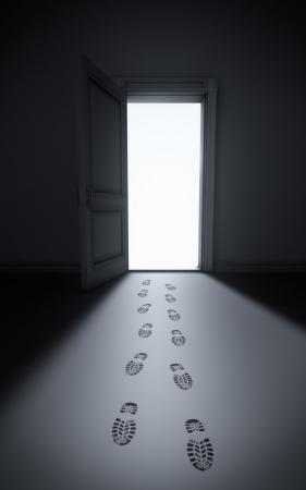 家に強盗: 足跡