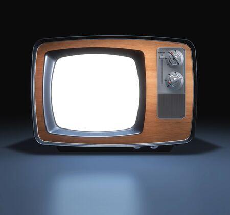 古いビンテージ ホワイト テレビ
