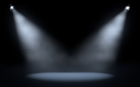 night spot: stage spotlights background