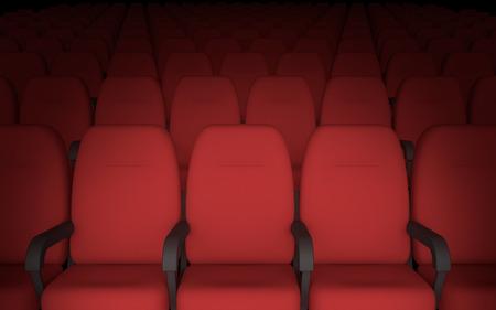 空映画劇場椅子の背景